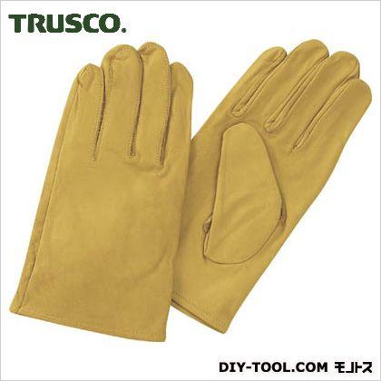 トラスコ(TRUSCO) 袖なし革手袋クレスト牛革製フリーサイズイエロー TYK-KY
