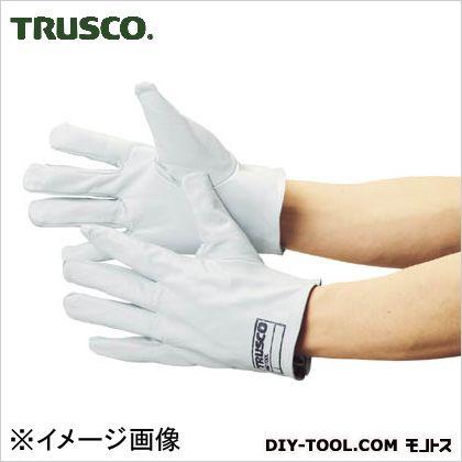 トラスコ(TRUSCO) 袖なし革手袋クレスト牛革製フリーサイズホワイト TYK-KW