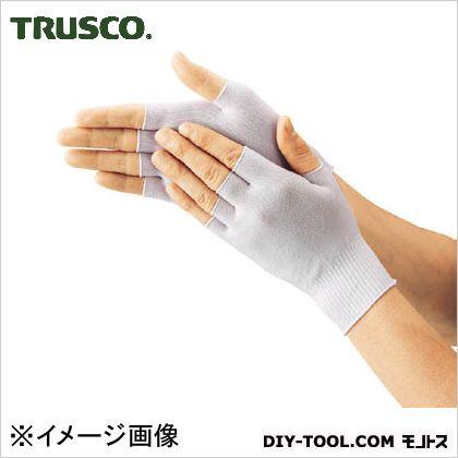 トラスコ(TRUSCO) インナー編手袋半指タイプフリーサイズ(10双入) DPM-301EX-F 10双