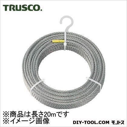 トラスコ(TRUSCO) ステンレスワイヤロープΦ6.0mmX20m 220 x 220 x 47 mm