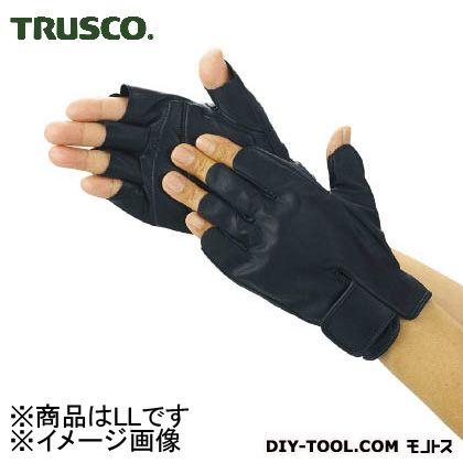 トラスコ(TRUSCO) 防振防滑手袋ハーフフィンガーLLサイズ 213 x 142 x 26 mm TPG855-LL