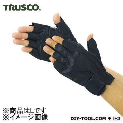 トラスコ(TRUSCO) 防振防滑手袋ハーフフィンガーLサイズ 208 x 141 x 21 mm TPG855-L