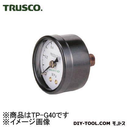 トラスコ(TRUSCO) 圧力計表示板径Φ40埋込型口径R1/8表示 114 x 70 x 39 mm TP-G40
