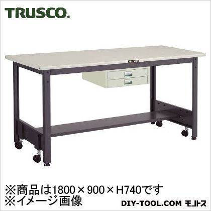 【送料無料】トラスコ(TRUSCO) 移動式作業台中量鉄天板薄引出2段 1800×900 CFWS1890UDC2