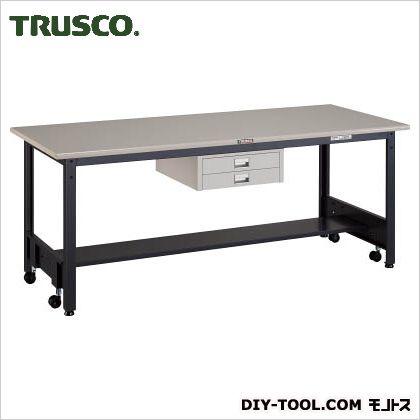 【送料無料】トラスコ(TRUSCO) 移動式作業台中量鉄天板薄引出2段 1800×750 CFWS1875UDC2