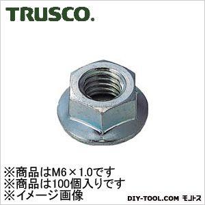 トラスコ(TRUSCO) フランジナットユニクロムサイズM6X1.0100個入 138 x 71 x 30 mm 100個