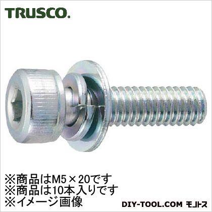 TRUSCO 六角穴付組込ボルトI-3三価白サイズM5X2010本入 140.0060.0028.00MM