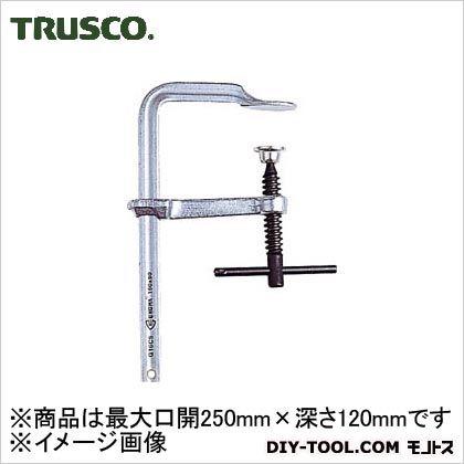 TRUSCO エホマクランプ鉄ハンドル最大口開250mmX深さ120mm G-25CS