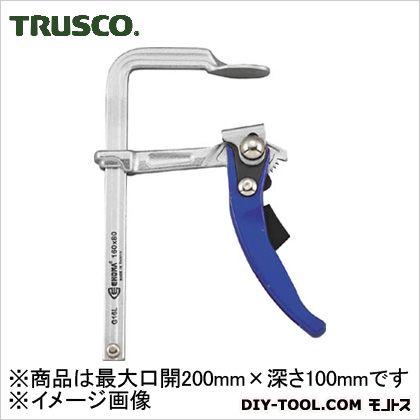 TRUSCO エホマクランプラチェット最大口開200mmX深さ100mm G-20L