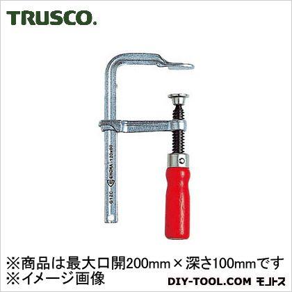 TRUSCO エホマクランプ木ハンドル最大口開200mmX深さ100mm G-20C