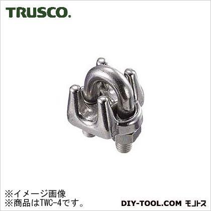 トラスコ(TRUSCO) ワイヤークリップステンレス製4mm用(2個入) TWC-4 2個