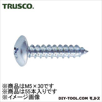 トラス頭タッピングねじユニクロM5X3055本入   B42-0530 55 本