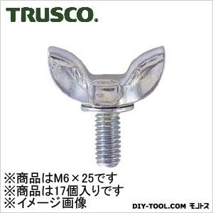 トラスコ(TRUSCO) プレス蝶ボルトユニクロムサイズM6X2517個入 136 x 70 x 31 mm 17個