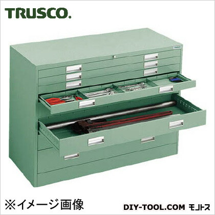 トラスコ(TRUSCO) WVR型キャビネット1200X500XH880引出8段 WVR-LL8W
