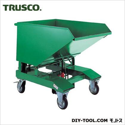トラスコ(TRUSCO) スクラップ台車油圧ジャッキ式120L VSP-120JK