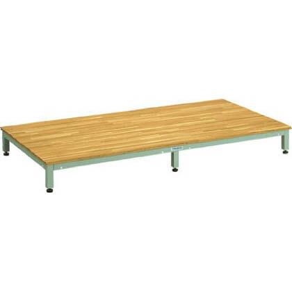 トラスコ(TRUSCO) 高床用木製ステップ1800X900XH190~220 900 x 1800 x 190 mm UFSH-1890N