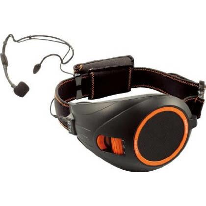 TOAハンズフリー拡声器(黒) ブラック&オレンジ 横幅:133mm高さ:96mm長さ:222mm (本体・ベルト部除く) ER1000BK