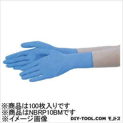 テイジン ニトリル手袋粉付青M(100枚入) NBR-P10BM 100枚