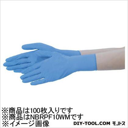 テイジン ニトリル手袋粉なし白M(100枚入) NBR-PF10WM 100枚