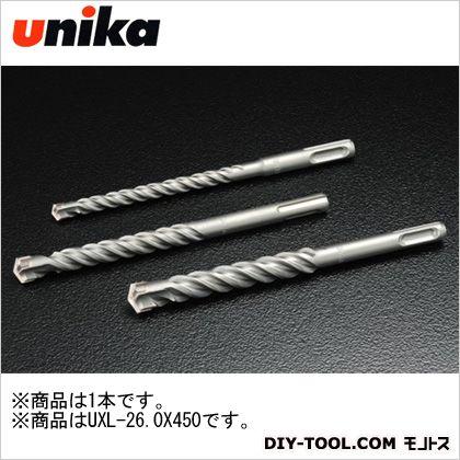 【送料無料】ユニカ コンクリートドリルSDSプラスUXロング 37 x 36 x 470 mm UXL26.0X450