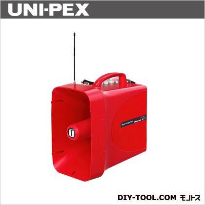 【送料無料】ユニペックス 30W防滴スーパーワイヤレスメガホン サイレン付 幅218mm高さ371mm奥行き350mm 赤色 TWB-300S 1台