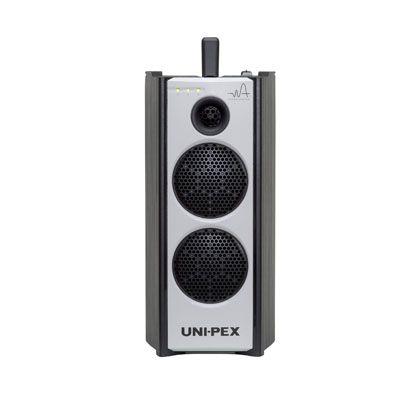 【送料無料】ユニペックス 防滴型ハイパワーワイヤレスアンプ CD/SD/USBプレーヤー付(300MHzダイバシティ) WA-372CD 1台