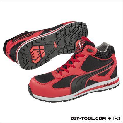 【送料無料】PUMA SAFETY フルツイスト・・ミッド 作業用靴 レッド 25.0cm 63.201.0 0足