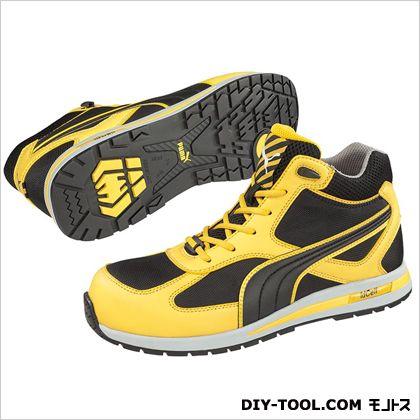 【送料無料】PUMA SAFETY フルツイスト・・ミッド 作業用靴 イエロー 26.5cm 63.202.0 0足