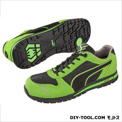 【送料無料】PUMA SAFETY エアツイスト・・ロー 作業用靴 グリーン 25.0cm 64.322.0 0足