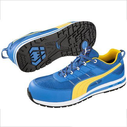 【送料無料】PUMA SAFETY キックフリップ・・ロー作業靴 ブルー 24.5cm 64.321.0 1足