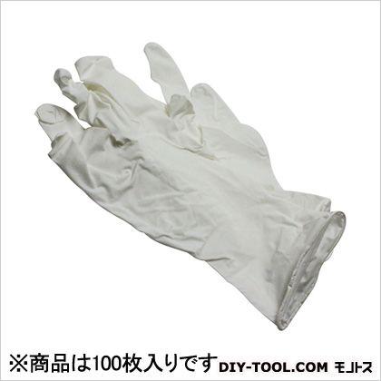 シンガー ニトリル手袋 粉付 白 L 100枚