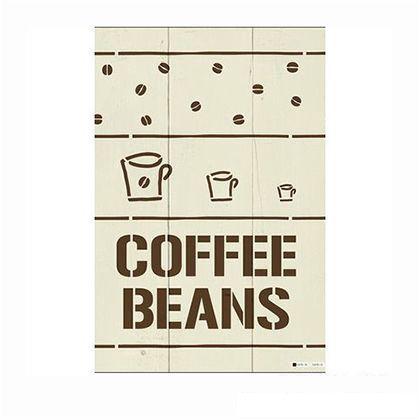 小屋女子計画ステンシル「coffeebeans」  36×55cm KJ-02