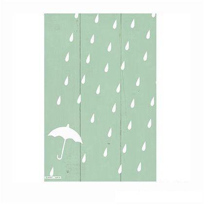 小屋女子計画ステンシル「雨粒のリズム」  36×55cm KJ-03