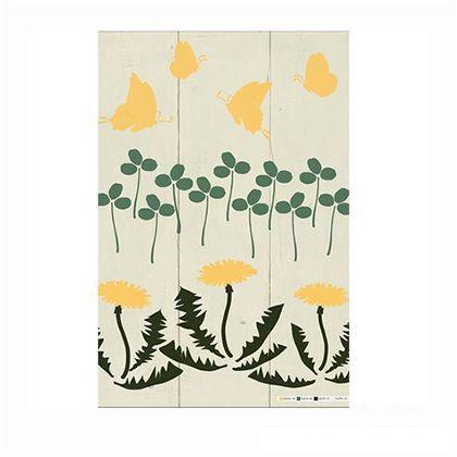 小屋女子計画ステンシル「はずむ春」  36×55cm KJ-06