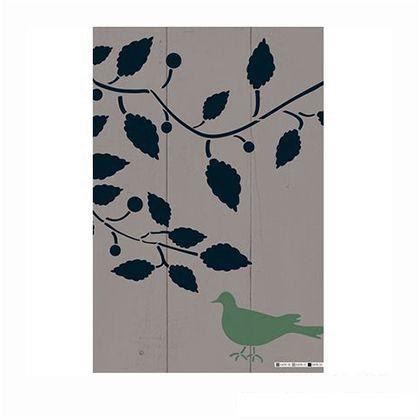 小屋女子計画ステンシル「夏のこかげ」  36×55cm KJ-07