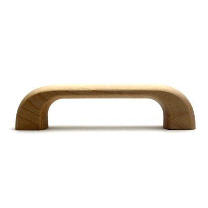 木製取手  全長:115mm、ビスピッチ:96mm、高さ:28mm TW-310