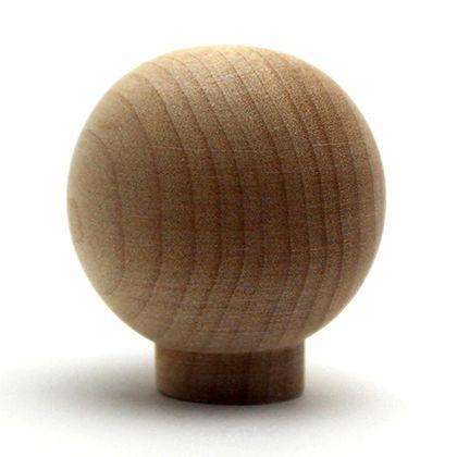 木製つまみ  横幅:最大32mm、設置面の横幅:15mm、高さ:35mm TW-314