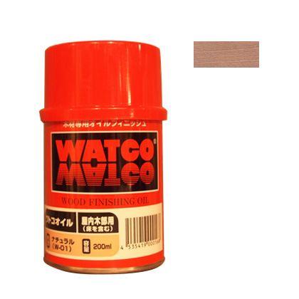 ワトコオイル浸透性木材用塗料 ホワイト 200ML W-07