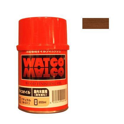 ワトコオイル浸透性木材用塗料 チェリー 200ML W-08