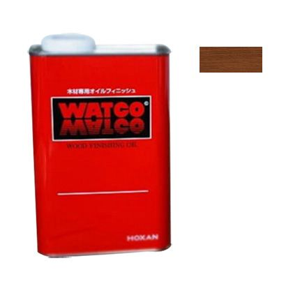 ワトコオイル浸透性木材用塗料 チェリー 3.6L W-08