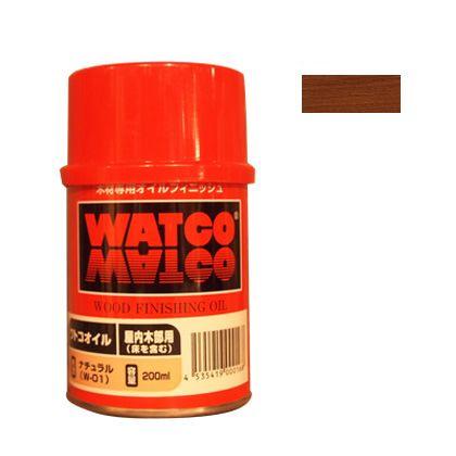 ワトコオイル浸透性木材用塗料 マホガニー 200ML W-09