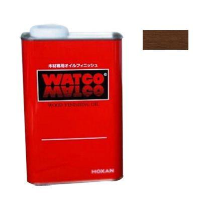 ワトコオイル浸透性木材用塗料 エボニー 3.6L W-10