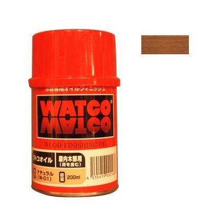 ワトコオイル浸透性木材用塗料 ドリフトウッド 200ML W-11