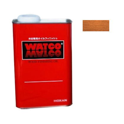 ワトコオイル浸透性木材用塗料 ミディアムウォルナット 1L W-12