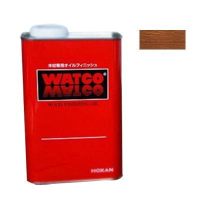 ワトコオイル浸透性木材用塗料 ダークウォルナット 1L W-13