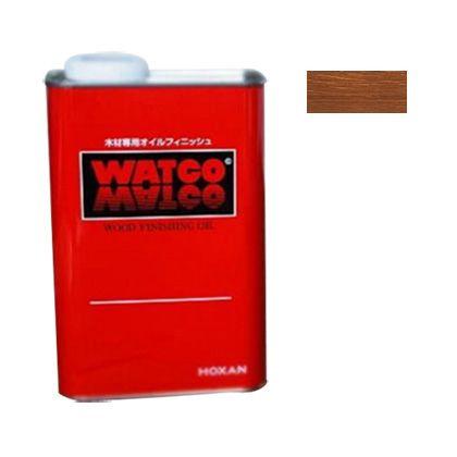 ワトコオイル浸透性木材用塗料 ダークウォルナット 3.6L W-13