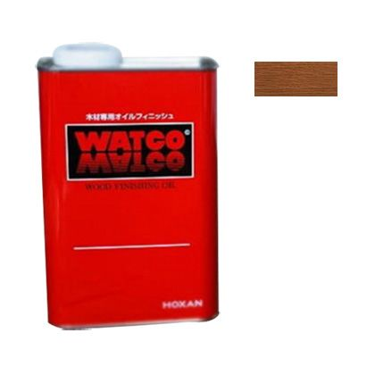 ワトコワックス浸透性木材用塗料 茶(ダークウォルナット) 1L W-14