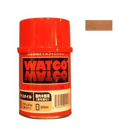 ワトコワックス浸透性木材用塗料 白(ナチュラル) 200ML W-15