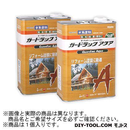 【送料無料】和信化学工業 ガードラックアクアW・Pステイン(木材保護塗料) A-1 ブラック 3.5Kg 58802