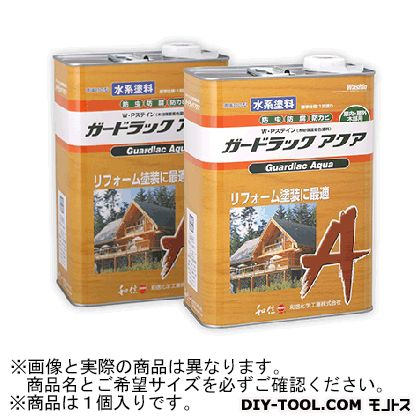 【送料無料】和信化学工業 ガードラックアクアW・Pステイン(木材保護塗料) A-6 グリーン 14Kg 58807